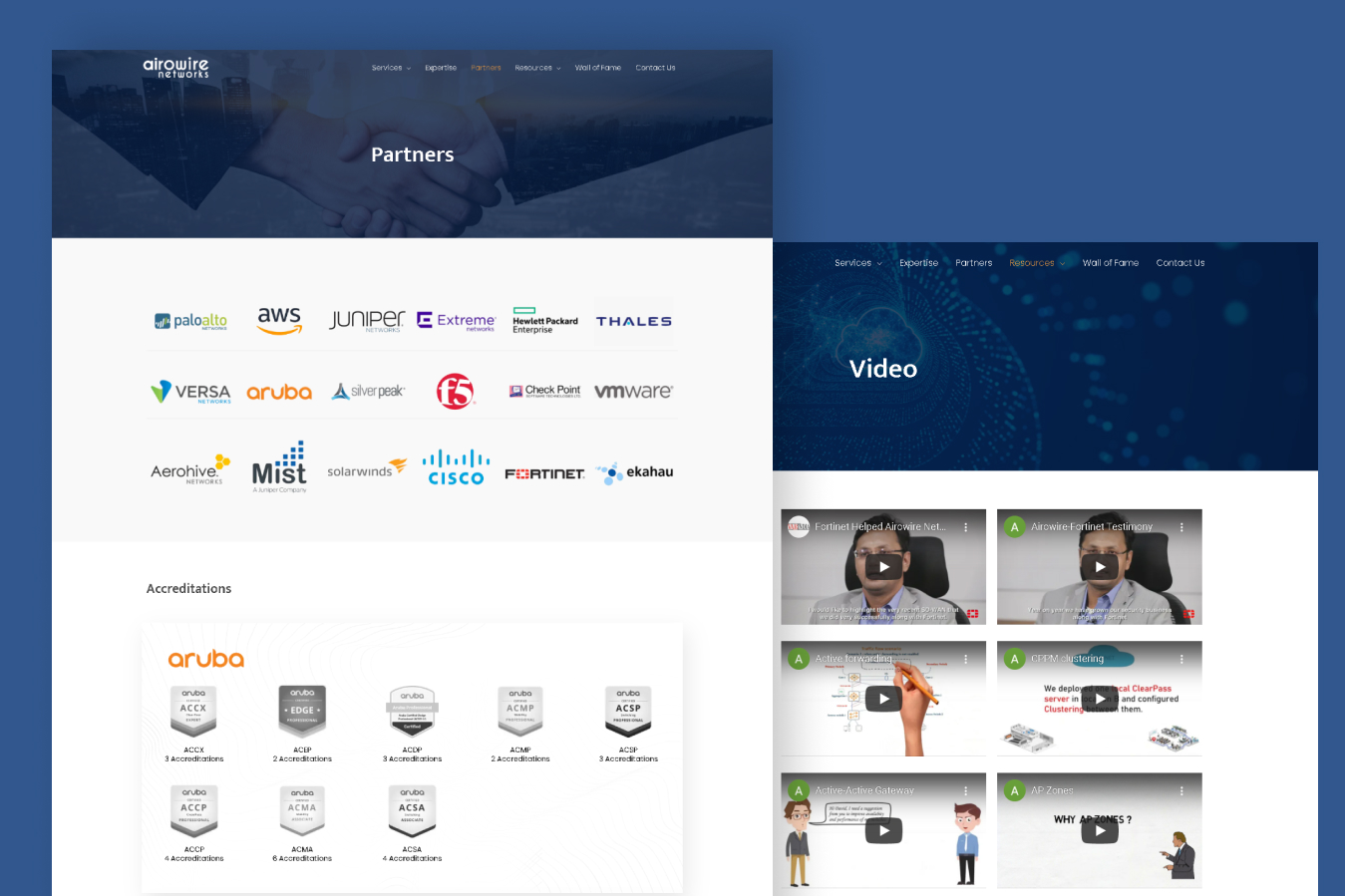 Website Design for Networking Solutions